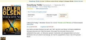 Bestseller Verachtung von Jussi Adler-Olsen